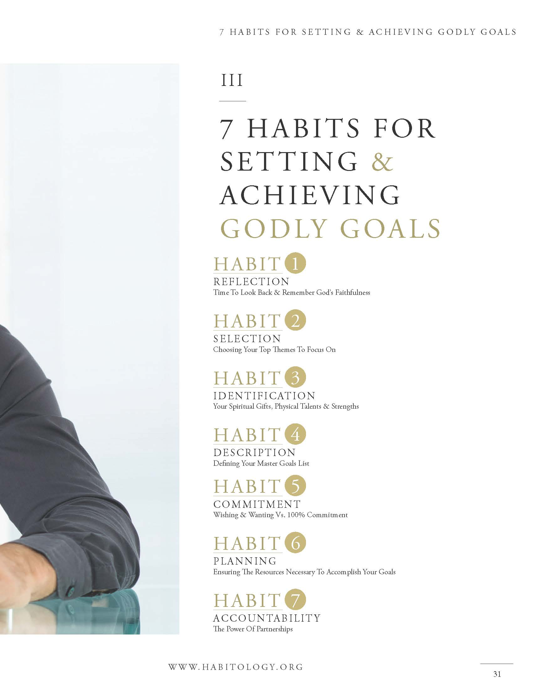 Habitology 7 Habits for Setting and Achieving Godly Goals, V7, 06-27-17 Page 31