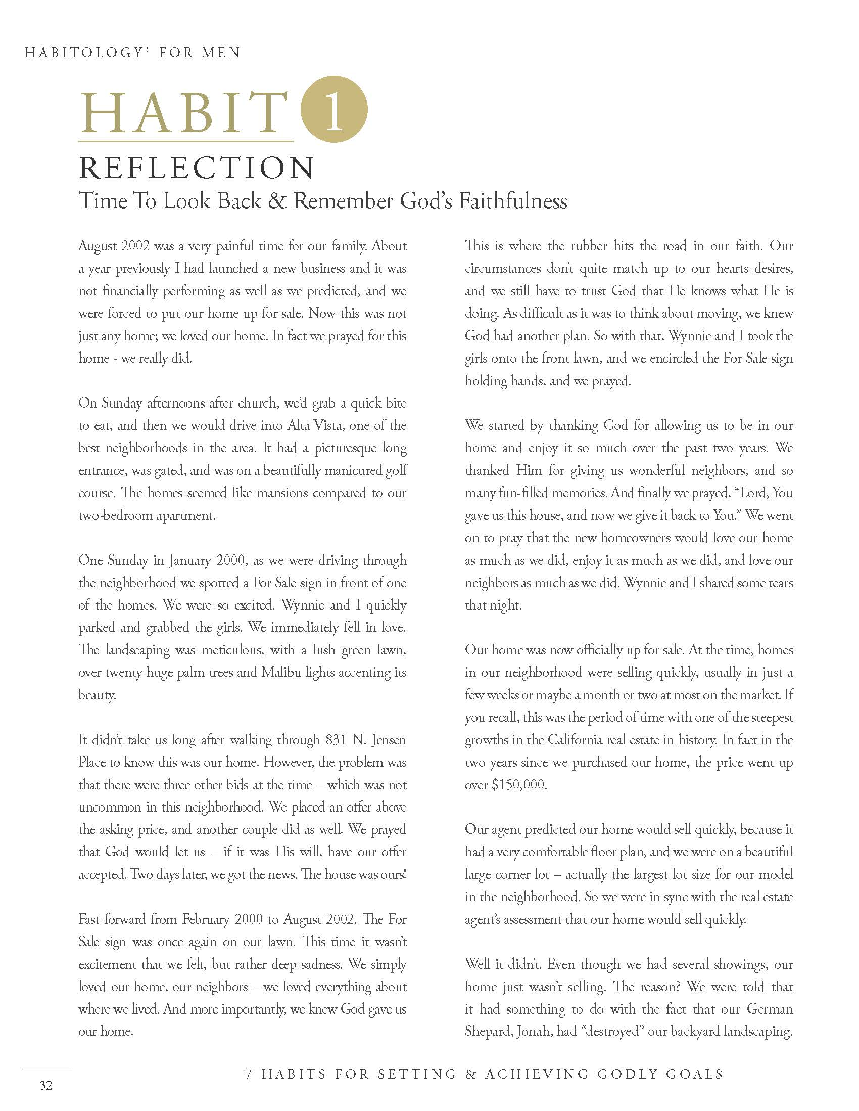 Habitology 7 Habits for Setting and Achieving Godly Goals, V7, 06-27-17 Page 32