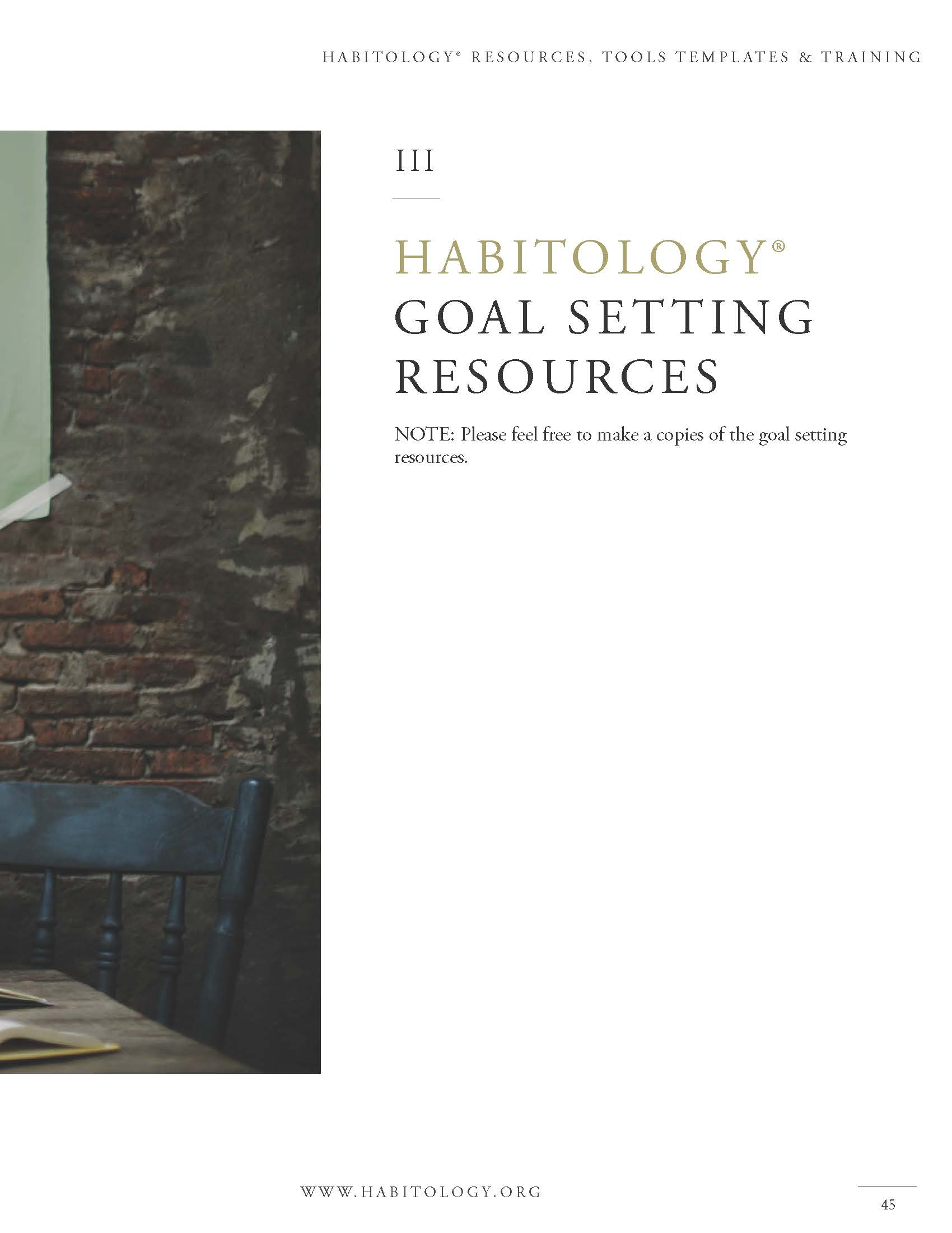 Habitology 7 Habits for Setting and Achieving Godly Goals, V7, 06-27-17 Page 45