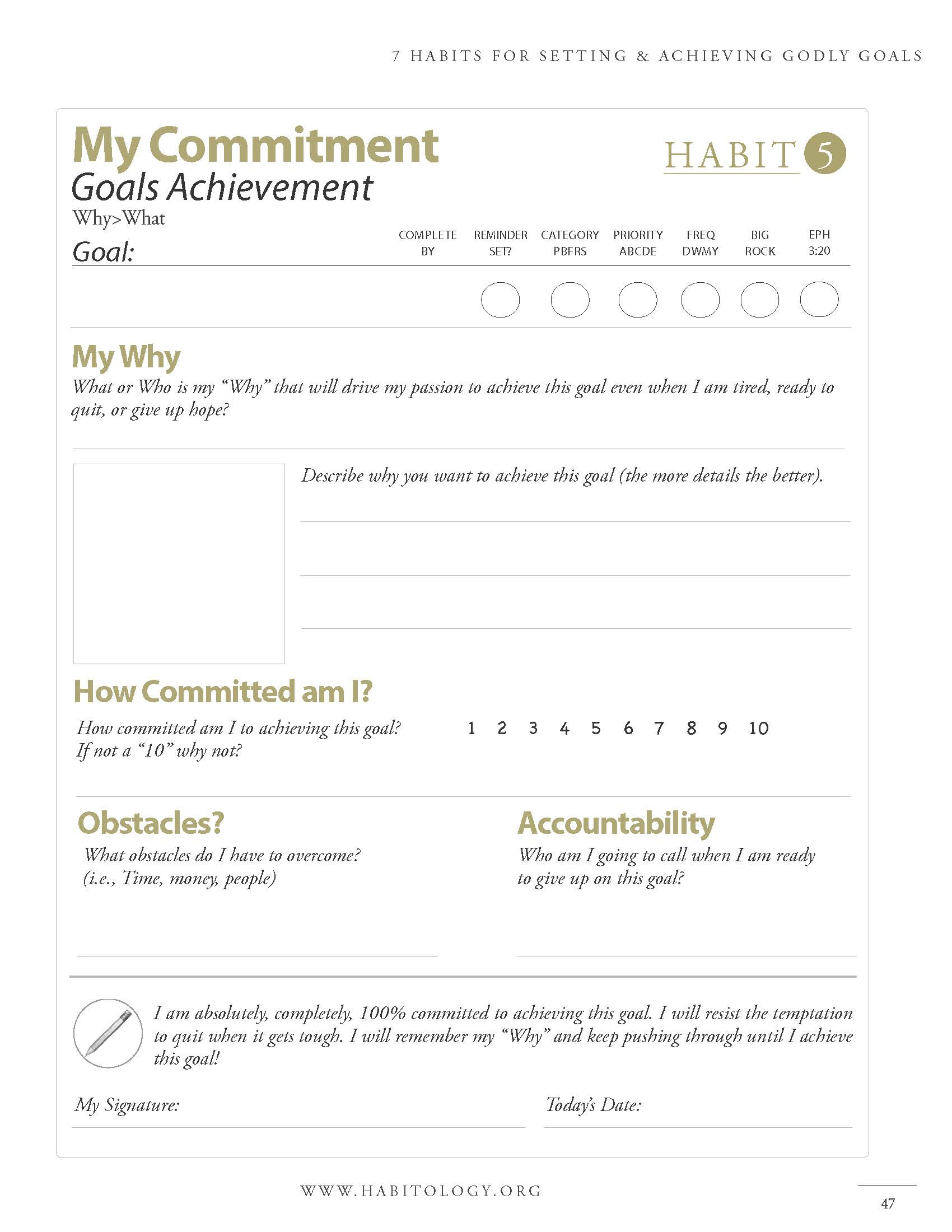 Habitology 7 Habits for Setting and Achieving Godly Goals, V7, 06-27-17 Page 47