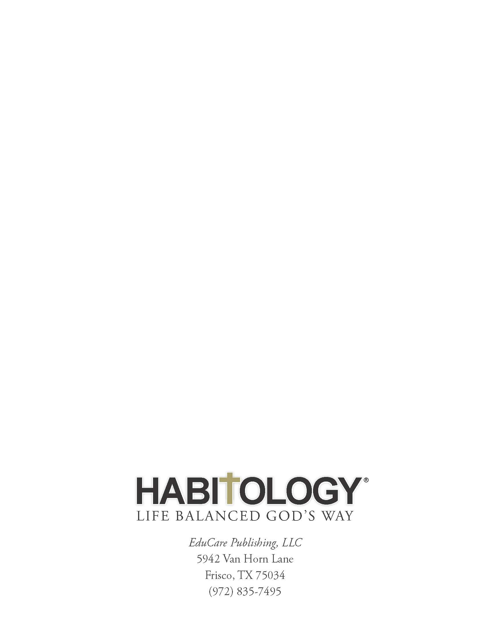 Habitology 7 Habits for Setting and Achieving Godly Goals, V7, 06-27-17 Page 74